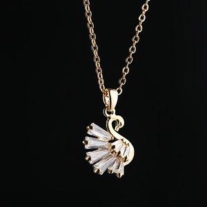Swan Cubic Zirconia Clavicular Necklace